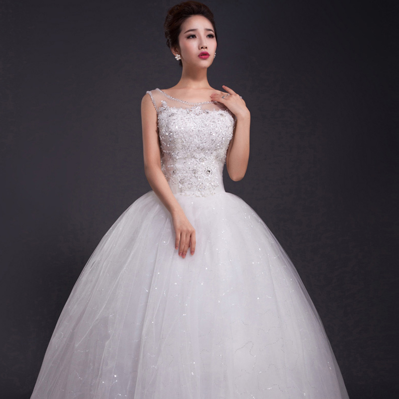 Crystal Wedding Dress 2017 Floor Length Hts Plus Size Sexy