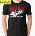 2016 Recién Llegado de Mad Max Interceptor coche guerrero de la carretera de Impresión Moda de verano de Algodón de Manga Corta Top Tee Camiseta Ocasional Tamaño S-2XL