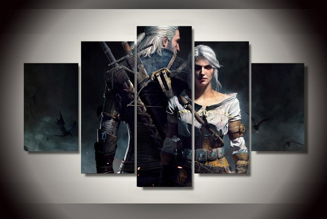 the witcher geralt and ciri modern home pictures prints brand