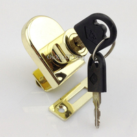 Hot 1set Single Glass Cabinet Lock Shopping Malls Showcase Display Cabinet Locks For 5 8mm Glass