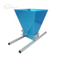 The Best Quality 2 rollers Barley grain Crusher Grinder Malt mill with Hopper For the Homebrew Hobbyist with Aluminium Alloy Bar