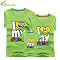 Я люблю свою семью футболки лето семья соответствующие одежды отца мать дети детей наряды новые хлопковые тройники бесплатная прямая поставка