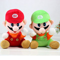 2014 new 18CM=7'' Super Mario Bros plush doll toys Set of 2 pcs Plush Doll Stuffed Toy Retail New design for Child cartoon gift