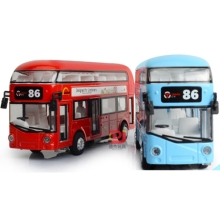 High quality Alloy London Bus Double Decker Bus Light Music Open Door Design Metal Bus Diecast Bus Design toy car For Children цена