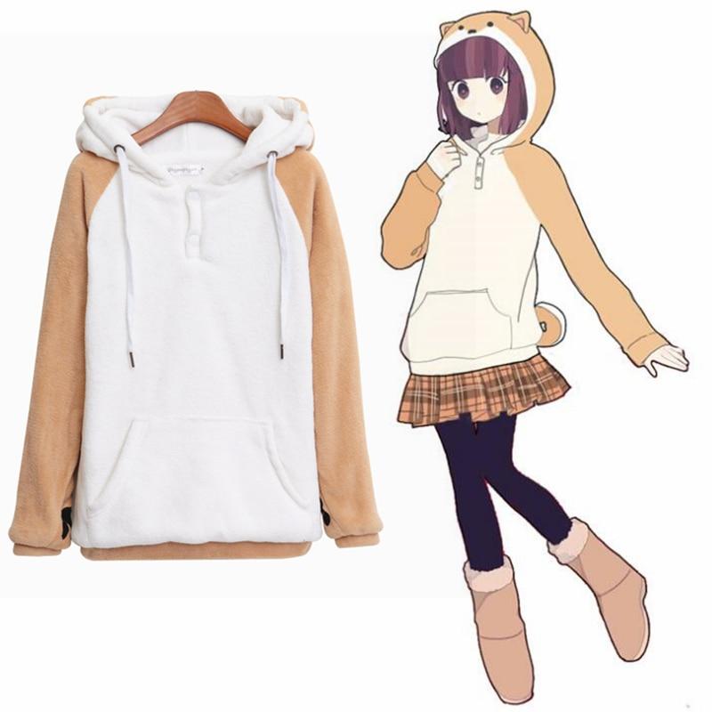 Lovely Muco! sweatshirts Jackets Women Plush hoodies cosplay Anime costume Top New 2018