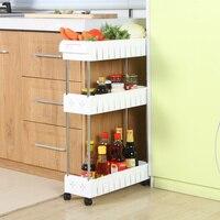 A1 Wheeled mobile toilet bathroom shelf refrigerator floor plastic storage rack shelf kitchen sandwich finishing rack wx8200949