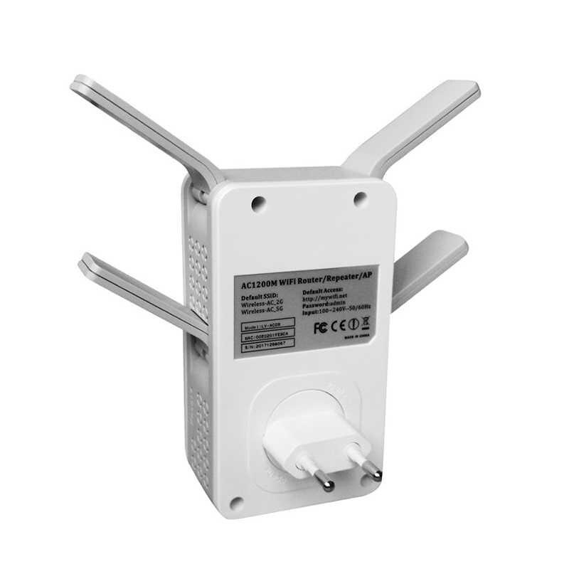 2.4G/5G wzmacniacz sygnału wifi wzmacniacz sygnału dwuzakresowy AP 1200 mb/s bezprzewodowy wzmacniacz AC wzmacniacz routera WPS z 4 antenami o wysokiej mocy