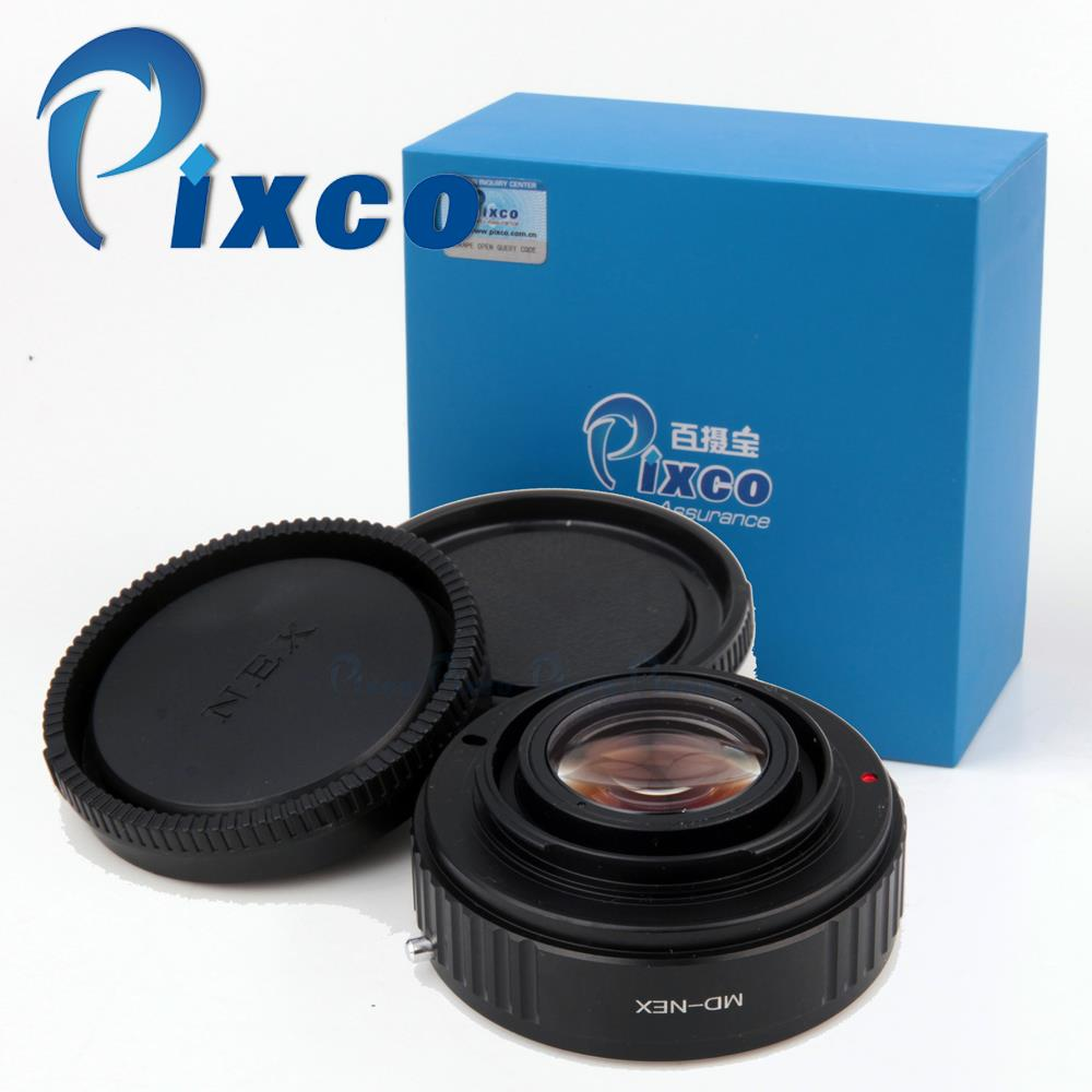 Save $2!!Pixco Focal Reducer Speed Booster Lens Adap.ter Suit For Minolta MD Lens to Sony E Mount Camera NEX A6000 A3000 5T 3N