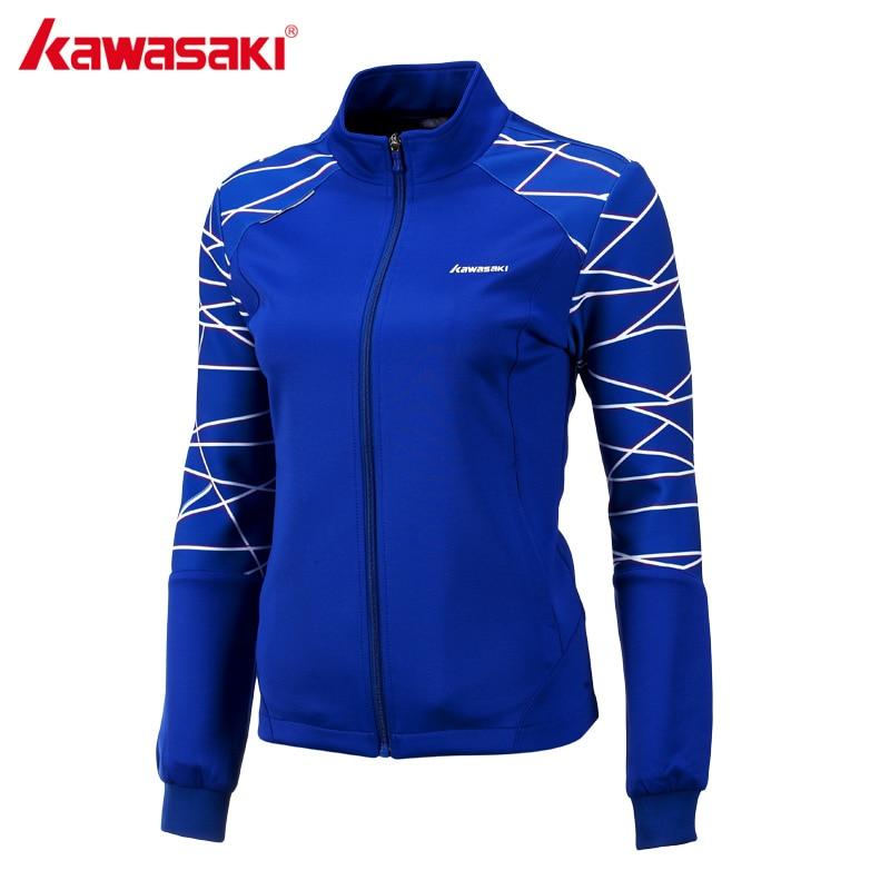 Kawasaki 2017 סתיו מעיל ספורט Windproof מעילי חדר כושר בדמינטון טניס לנשים גבירותיי חם מקצועי לנשימה JK-172805