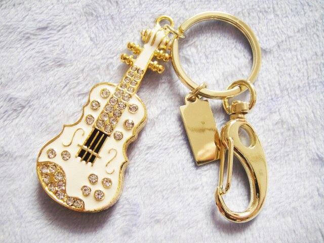 New U Disk Flash Disk Crystal Guitar 64GB 32GB 16GB 8GB Jewelry Usb Flash Drive Jewelry Usb Memory Pen Driver Gifts Gadget Stick