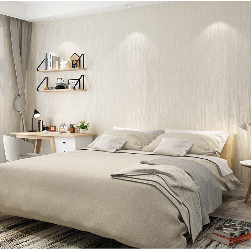 bedroom grey modern solid plain wall paper yellow