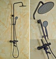 Luxury Bathroom Oil Rubbed Bronze Shower Faucet Wall Mounted Thermostatic Shower Units