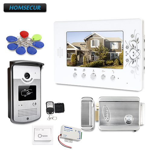 HOMSECUR Shipping From Russia 7inch Wired Video Door Entry Phone Call System With Mute Mode For Home Security
