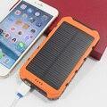 DCAE Путешествия Солнечной Энергии Банк 10000 мАч Dual USB Солнечная Батарея Портативное Зарядное Устройство powerbank с 1 м samsung кабель Для xiaomi HTC