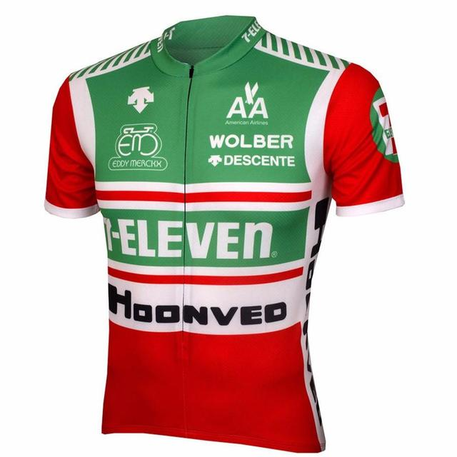 2017 Hot Men Cycling Jersey 7-ELEVEN Team Road Bicycle Clothing Bike Wear Clothes Ropa Ciclismo Short Sleeve Maillot Ciclismo