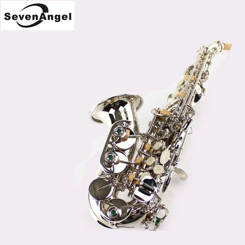 Saxophone saxophone Soprano tuyau coudé Instrument à vent saxo Instruments occidentaux saxofone Instruments de musique Saxophone
