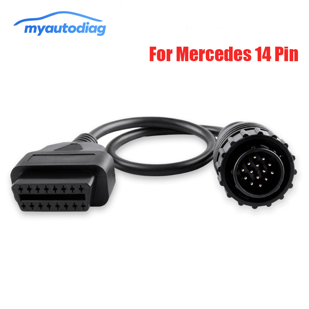 14pin To 16Pin car Diagnostic cable For Mercedes FOR BENZ Sprinter <font><b>14</b></font> <font><b>Pin</b></font> To OBDII <font><b>OBD2</b></font> OBD II ODB 2 16 <font><b>Pin</b></font> <font><b>Adapter</b></font> image