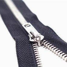 Close-End 10 см-80 см 5 #10 шт. белый Металл Молнии для Шитья Одежды zip Аксессуары джинсы Молнии Cremalleras DIY инструменты молния