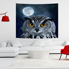Indian Owl Tapestry  Colored Printed Decor Mandala Religious Boho Wall Carpet Bohemia Beach Blanket 150x200cm все цены
