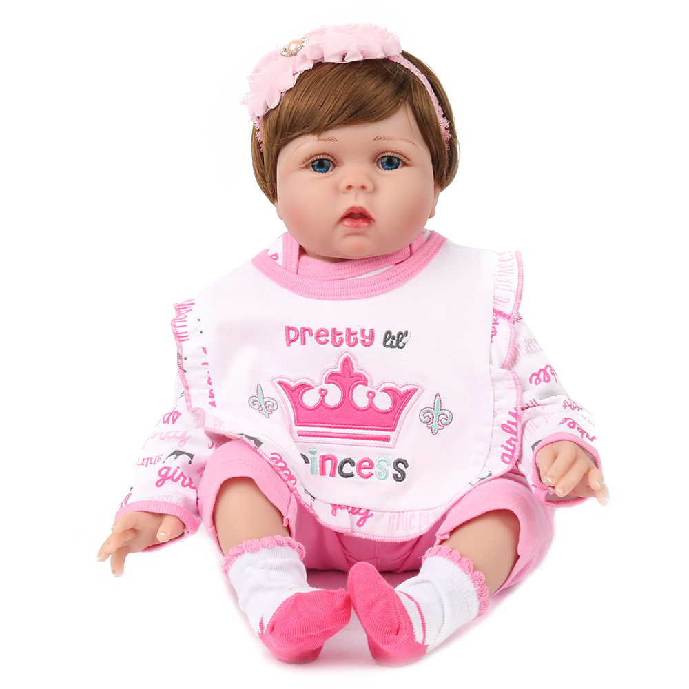 55cm Vinyl Reborn Doll Toys for Children Soft Baby Alive Cloth Body Realistic Girl Hair Wigs NewBorn Baby Child Birthday Gift baby girl child baby girl gift children bicycle bike page 1