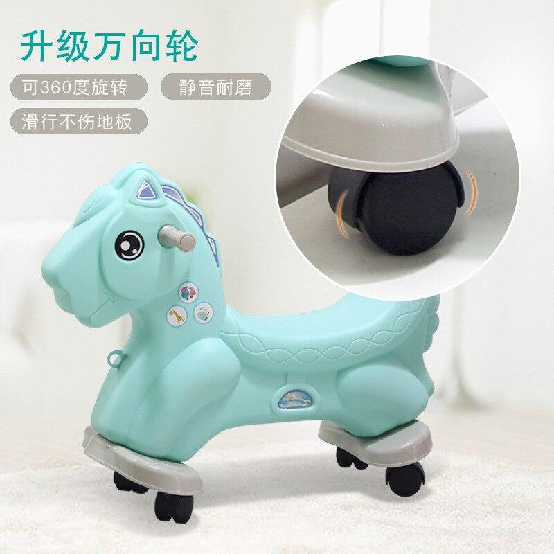 Лошадка качалка Baby Пластик большой Размеры кресло качалка двойного назначения ездить на игрушки животных От 1 до 6 лет Верховая езда игрушка... - 4