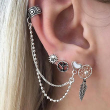 Hot Fashion Brincos New Girls Earing Bijoux Sliver Stud Earrings For Women Wedding Jewelry Earings Wholesale(China)