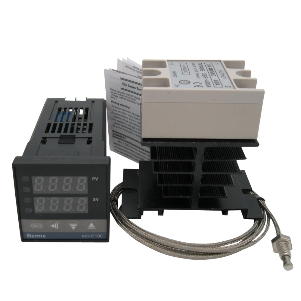 High Quality Digital PID temperature Controller Thermostat 100  240V AC with SSR 40DA solid state Relay heat sink  K  Thermocoupletemperature controller thermostatpid temperature  controller thermostatcontroller thermostat