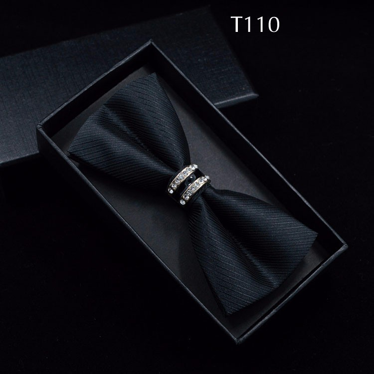 Tuxedo Metal Crystal Wedding Bow Tie Men Women Butterfly Knot Cravat Black Purple Blue Jujube Red Groom Party Banquet Meet Club 9
