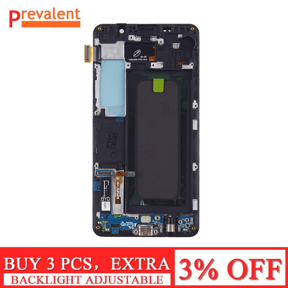Für Samsung Galaxy A5 2016 A510 A510F A510M SM-A510F Touchscreen Digitizer Sensor + LCD Display Panel Screen Rahmen