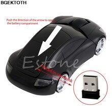 2.4G 1600 DPI Souris USB Récepteur Sans Fil LED Lumière De Forme de Voiture Souris Optique