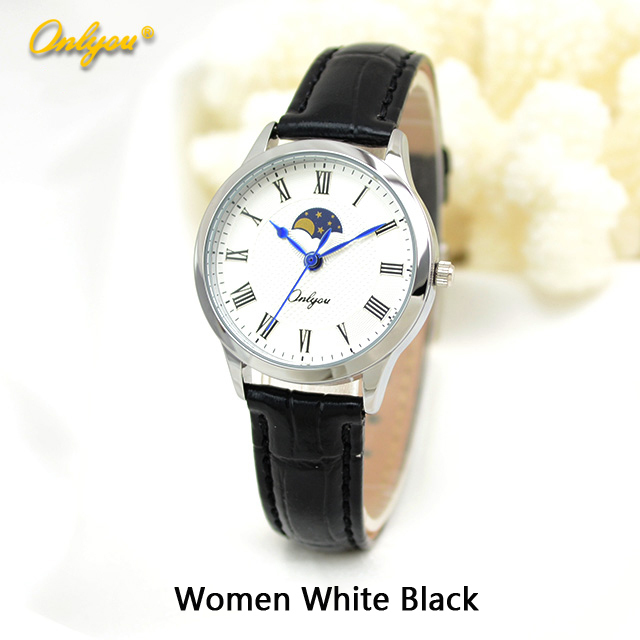 Onlyou Brand Fashion Casual Watch Women Men Genunie Leather Quartz Watch Boys Girls Ladies Dress Watch Male Clock Watch 81037