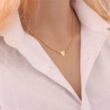 2019 New Fashion Double Layer Pendant Necklace for Women Ladies Girls Triangle Charm Birthday Gifts Jewelry Wholesale