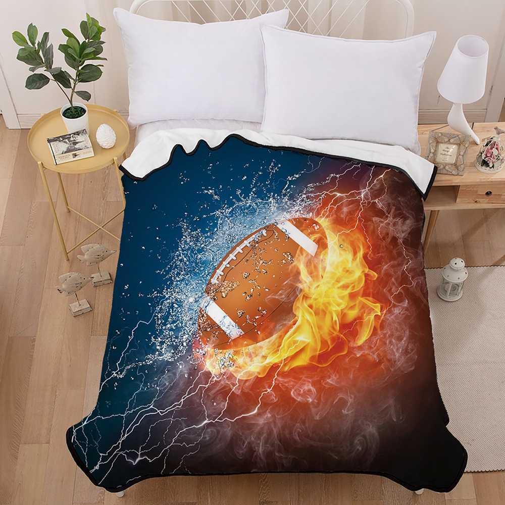 Lo mejor. Nuevas mantas de Rugby WENSD para camas Super suave y cómodo manta de tiro de alta calidad manta pesada para sofá de viaje