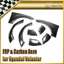 Автомобиль стайлинг Для Hyundai Veloster АРМИРОВАННЫХ Стекловолокном EGR Стиль Передней и Задней Колесных Арок 8 шт.