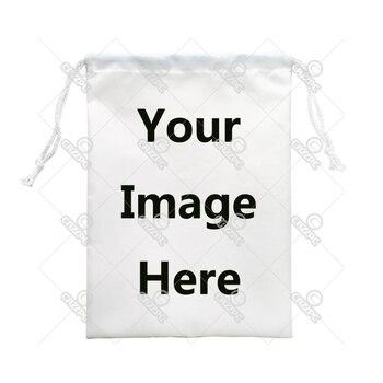 Your image instagram photo Print Custom Individual Nylon Fabric Drawstring Shoes Storage Dust Receive Bag