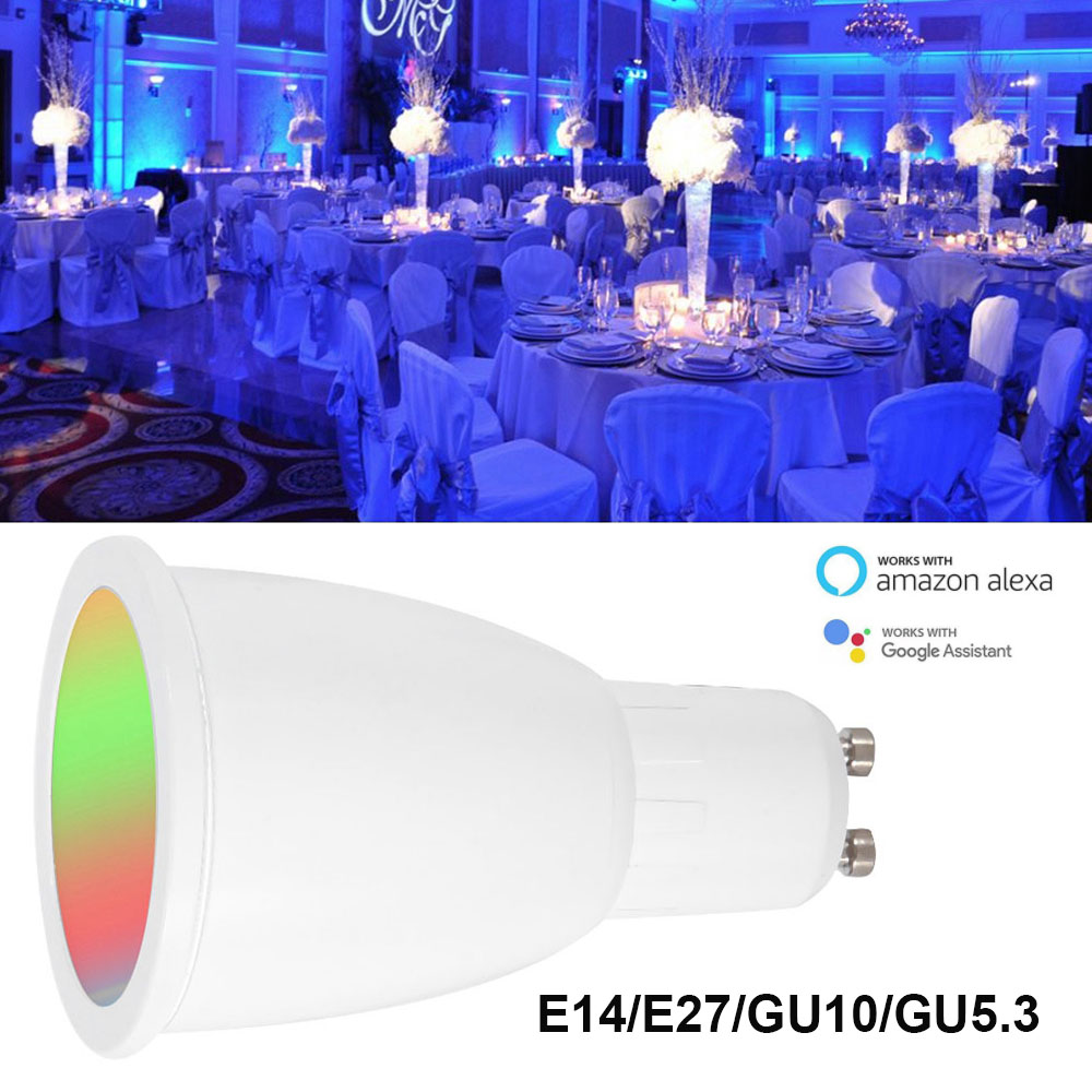 100% Quality New Wifi Smart Light Bulb Gu10/e27 Rgbw 6w Led Dimmable Light Cup Compatible With Alexa&google Home Remote Light Bulb Ac85-265v