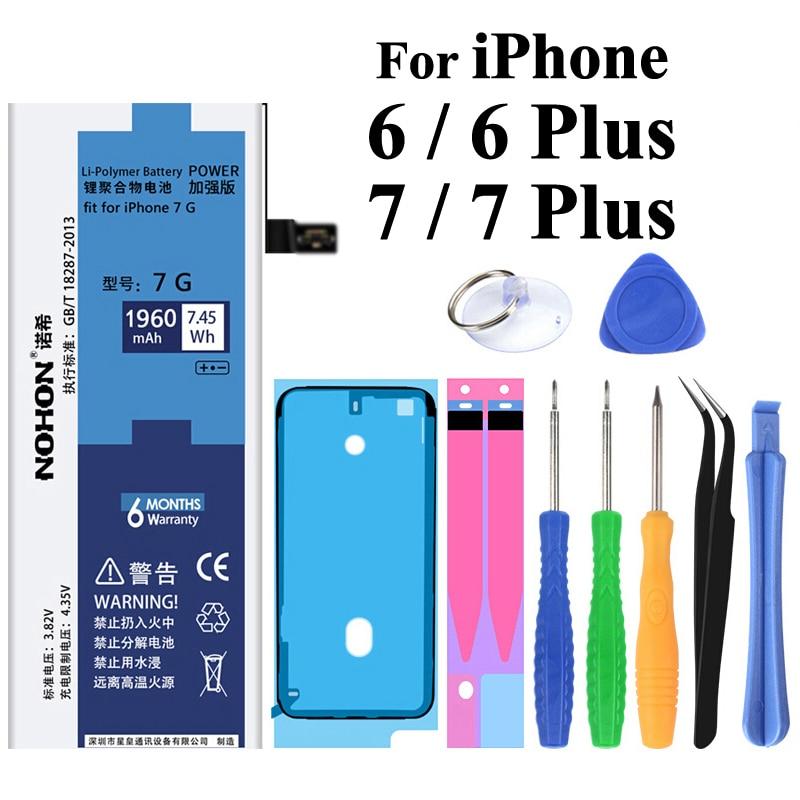 NOHON Bateria Original para o iPhone Da Apple 7 6 7 6 Plus Plus Plus 7 P 6 P 1960-3360 mAh Baterias de Substituição + Ferramentas Para o iphone 6 7 Plus