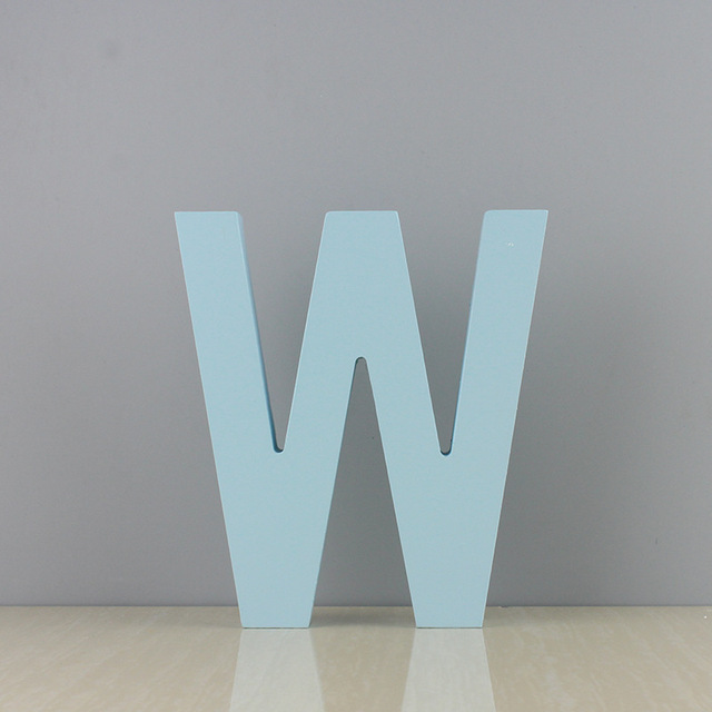 15cm / 10Cm Freestanding Wooden Word Color Letter Crafts Wedding Party Home Decoration DIY Custom Decoration Name Design 4