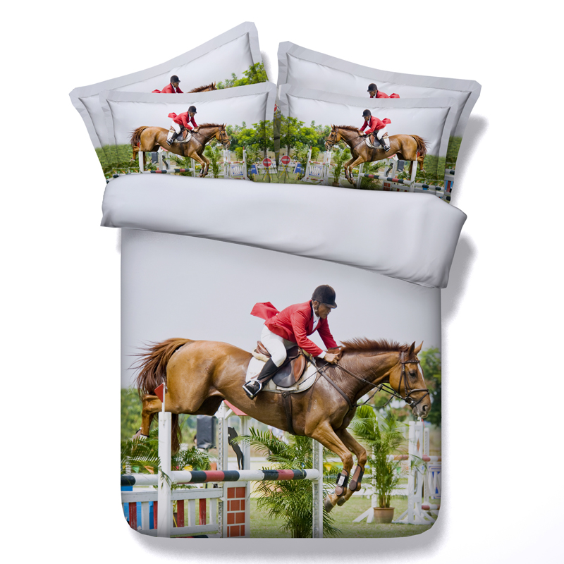 Equestrain 3d printed comforter bedding sets bedsclothes twin full queen king cal king size duvet cover Adult home woven sportsEquestrain 3d printed comforter bedding sets bedsclothes twin full queen king cal king size duvet cover Adult home woven sports