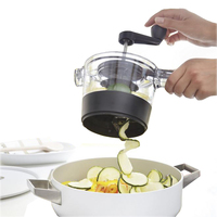4 In 1 Adjustable Spiral Slicer Grater Vegetable Fruit Cutter Shredder Rotary Cutting Machine Kitchen Tool