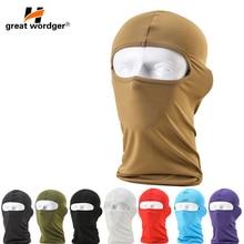 Motorcycle Face Mask Moto Balaclava Lycra Ski Mask Face Shield Cycling Ski Cap Summer Sun-protection Balaclavas 14 Color