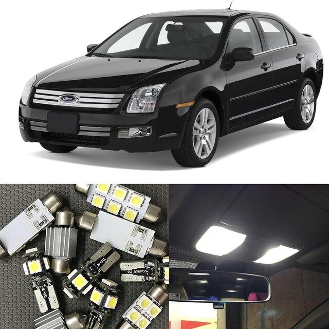 11Pcs White Auto Interior LED Light Bulbs Kit For Ford Fusion 2006 2007  2008 2009 Map