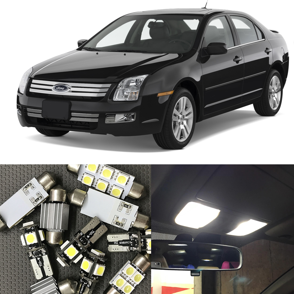 11pcs white auto interior led light bulbs kit for ford fusion 2006 2007 2008 2009 map