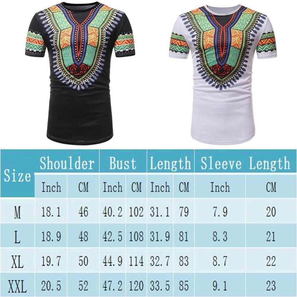 Kureas 男性アフリカ Tシャツ Dashiki 伝統的なカジュアルなロング Tシャツ部族ファッショントップス夏半袖 Tシャツ