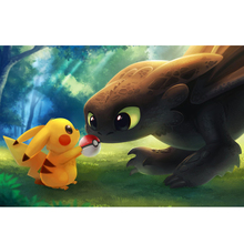 Pikachu and Dragon diamond Embroidery diy painting mosaic diamant 3d cross stitch picture H683