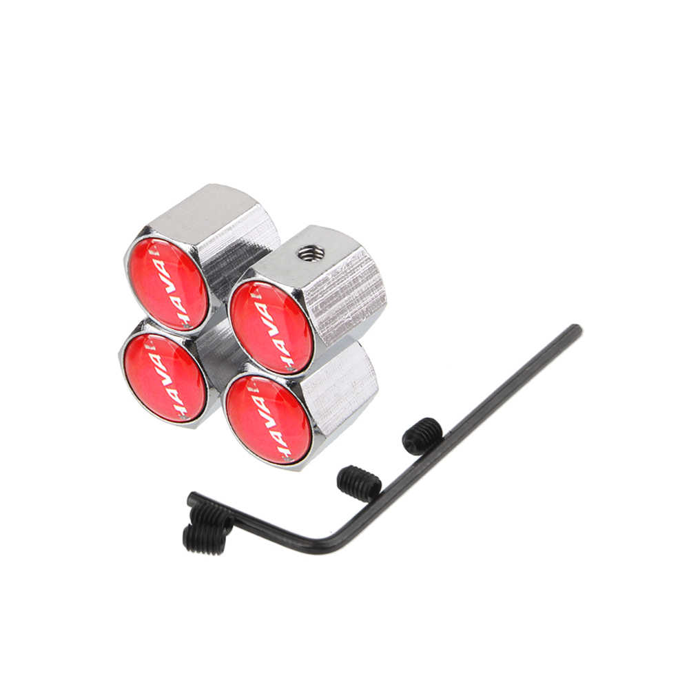 Accesorios para coches, ruedas, tapas de vástago de válvula de neumático, etiqueta engomada de la llanta para Haval H3 H6 Sport Coupe H2 H5 H8 H9 Silah Tabanca T Fek