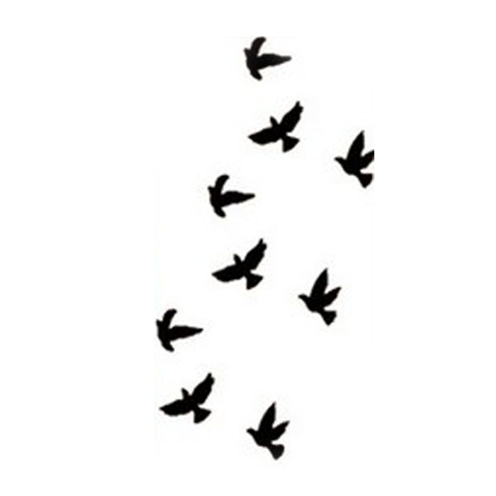 2016 Hot Sale Wrist Flash Tatoo Fake Tatoo Birds Design Waterproof Temporary Tattoo Sticker For Body Art Women Flesh Tatoos