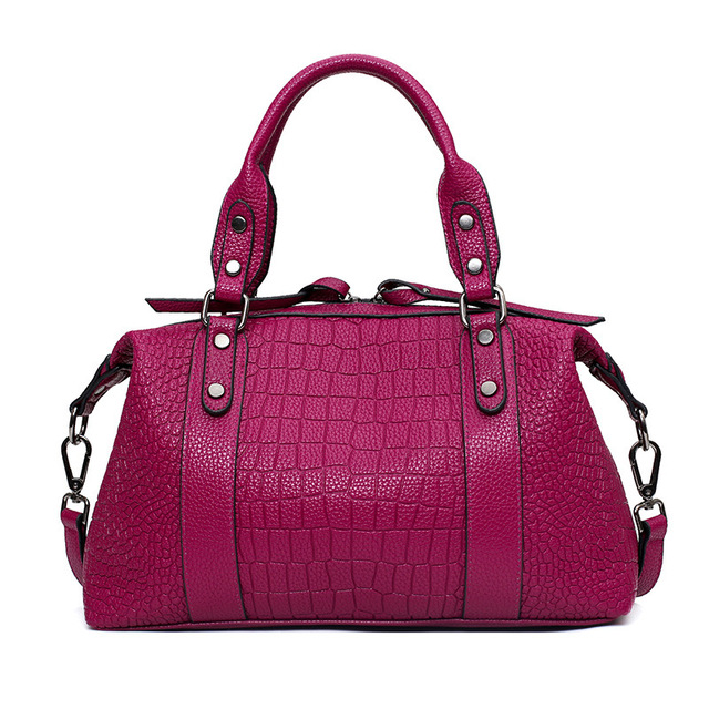 Business women's bag 2017 office ladies solid Handbag cross buckle fashion crocodile pattern women shoulder bag Messenger bag