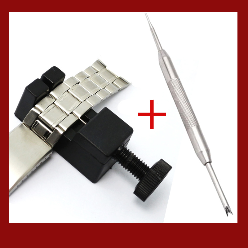 Adjuster Repair Tool with Watch Repair Tool Watch Link for Band Slit Strap Bracelet Chain Pin Remover Stainless Steel Watch Part (1)
