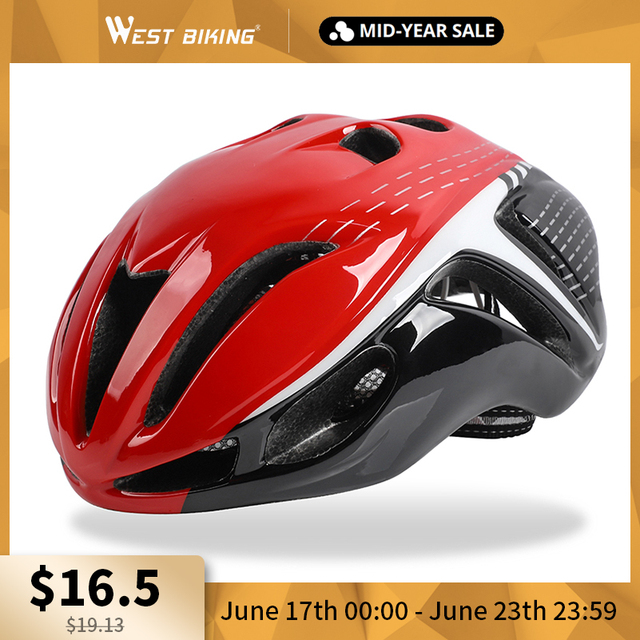 WEST BIKING Bike Helmet Ultralight-Molded Safety Caps Mountain Bikes MTB Cycling Helmet Casco Ciclismo 10 Colors Bicycle Helmet